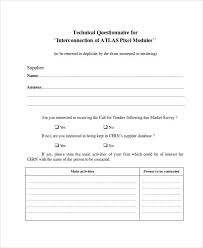 Template Questionnaire Word 34 Questionnaire Examples In Word Format