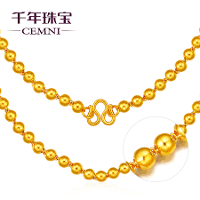 get ations cemni millennium 999 gold jewelry gold necklace beads necklace male and female models beads gold