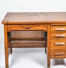 photo 2 of 6 vintage quarter sawn oak veneer typewriter desk antique typewriter desk value 2