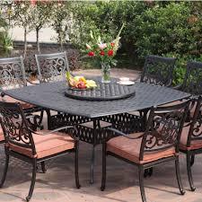 darlee st cruz 9 piece cast aluminum patio dining set with lazy susan piece patio dining set z23