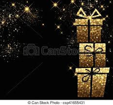 Gifts Background Christmas Background With Golden Gifts