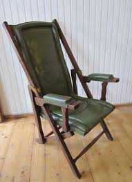 military leather folding lounge chair 1900