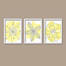 yellow gray bedroom wall art canvas or prints bathroom artwork  on yellow and grey wall art canvas with shop gray and yellow artwork on wanelo