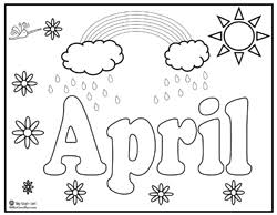 Small Picture Printable April Coloring Pages Mediafoxstudiocom