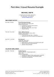 Job Resume Examples Part Time Job Resume Examples Examples Of Resumes 80