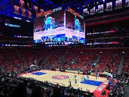 Detroit Pistons Seating Chart Little Caesars Little Caesars Arena 100 Level Sideline Basketball Seating