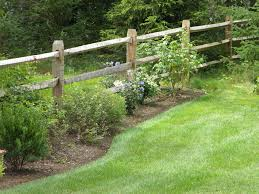 garden post. Post And Rail Fencing Design, Installation, Boston - Malone Fence Company Salem MA Garden 3