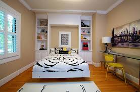 guest bedroom and home office with a murphy bed design kerrie l kelly