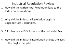 aim how do we review for our test do now how did the ese  6 industrial revolution review 1 how did the agricultural revolution lead to