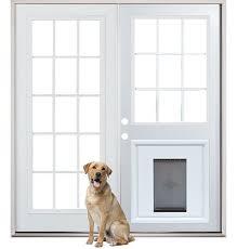 glass doors patio dog door