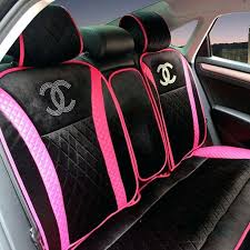 pink seat covers for cars whole luxury universal automobile velvet sheepskin car seat cover cushion