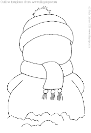 Template Of A Snowman Snowman Outline Picture Template