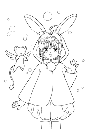 Sakura Anime Coloring Pages For Kids