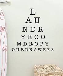 Wall Quotes By Belvedere Designs Laundry Eye Chart Wall