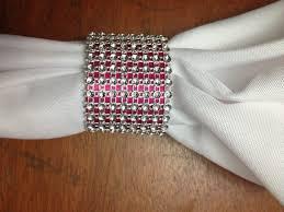 blinged out wedding napkin ring idea photo photo 1