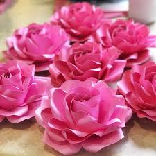 Paper Flower Video New Baby Rose Template In 5 Different Sizes Paper Flower