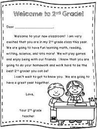Welcome To 2nd Grade Teacher Welcome Letter Teacher