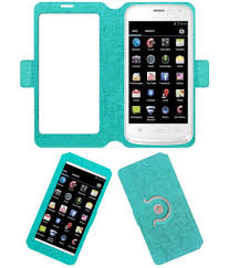 Celkon A105 Flip Cover by ACM - Blue ...