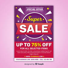 Special Offer Flyer Modern Sale Flyer Template With Abstract Design Vector