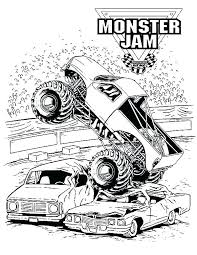Printable Monster Truck Coloring Pages Wonderful Monster Truck