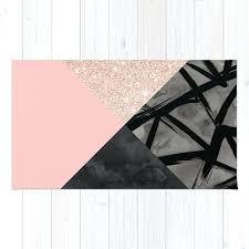 modern pastel pink black strokes watercolor color block rug by color block rug jersey colour block color block rug