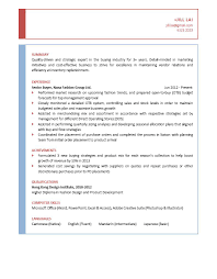 Fashion Buyer Resume Free Resume Example And Writing Download