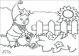 Flower Garden Color Pages Flower Garden Coloring Page Noddy Water