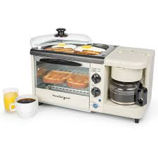 I did read that you can put a bowl. Nostalgia Bset100bc 3 In 1 Breakfast Station Walmart Com Walmart Com