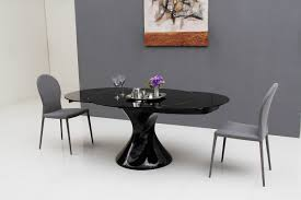 modrest savor modern round extend able black lacquer dining table