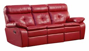 red leather reclining sofa and loveseat