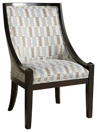 Blue Patterned Chair Interesting Powell Brown And Blue Patterned High Back Accent Chair Blue Striped