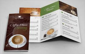 Coffee Shop Brochure Template - Resume Template Ideas