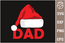 Dad With Christmas Hat Graphic By Chippoa Creative Fabrica