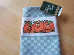 Kitchen Towel Craft Charles Craft Finished Cross Stitch Kitchen Towel Halloween