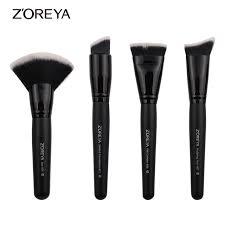 zoreya brand 4piece set super women foundation make up brushes set professional flat contour makeup