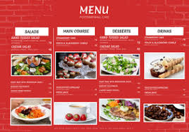 Restaurant Menu Template Word Clipart Images Gallery For