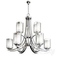 minka lavery parsons studio 9 light brushed nickel chandelier