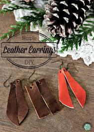 diy leather earrings easy tutorial