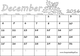 December Calendar Blank December 2016 Calendar Blank Printable Free Printable Pdf