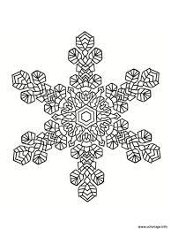 Coloriage Mandala Noel Flocon De Neige Dessin Tout Flocon Colorier
