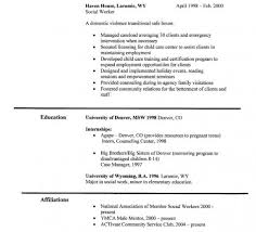 professional experience and work history for it resume objectives Social  Worker Resume Example
