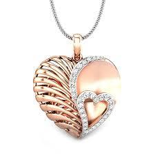 pink crush v day diamond pendant