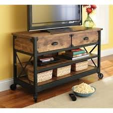 Walmart Better Homes And Gardens Rustic Country Antiqued BlackPine Panel TV  Stand For TVs Up To 52 Rustic Industrial Tv Stand R41