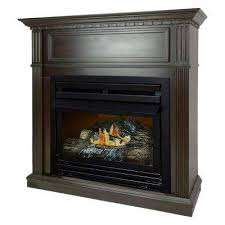 convertible ventless propane gas fireplace in