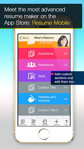 Resume App Magnificent Resume App Iphone Trenutno