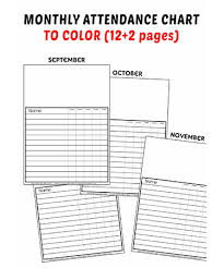 Sunday School Chart Ideas Free Sunday School Attendance Chart Printable
