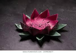 Paper Lotus Flower Pink Origami Lotus Flower Paper Art Stock Photo Edit Now