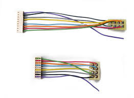 tcs decoder harness selection 9 pin jst male connector to 8 pin nmra plug