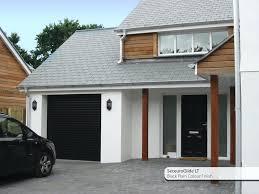 black garage doorsFront Doors  Black Garage And Front Door Matching Garage And