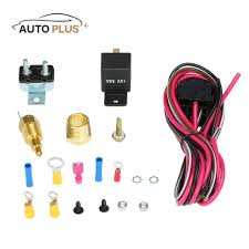 online get cheap wiring electric fans aliexpress com alibaba group Wiring Electric Fans auto car styling electric cooling fan wiring cable install kit 185 170 degree thermostat( wiring electric fans
